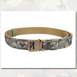 Wholesale Camo Combat Belt Hard Inch Shooter Belt Army Marine Style Tactical Quick Release Nylon Outdoot Hunting Gear