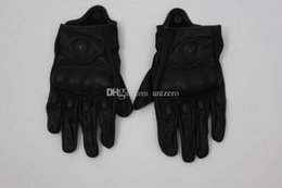 Wholesale Moto Racing Gloves Leather motorcycle gloves Perforated Leather Motorcycle Full Finger Motorcycle Gloves Black men Protective Gears fashion