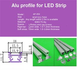 10m 10X1m led aluminium profile for rigid strip ,led cabinet bar light with 5050 5630 strip for indoor use