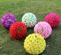 Wholesale Artificial flowers cm rose ball Wedding mall ceiling curd Chen Mei silk flower decoration flower ball