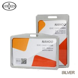 Wholesale High Quality Aluminum Alloy visiting cards card holders Stamped in their passport Unisex Badge Lanyard badge