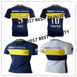 Wholesale Best quality Bocaings Juniors CARLITOS soccer shirts GAGO BLUE WHITE BLACK ROMAN TEVEZ SHIRTS