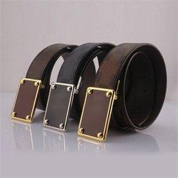 Wholesale New Fashion Mens Business Belts Luxury Big Buckle Faux Leather Belts For Men Free Size Waist Belts Cheap