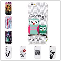 Wholesale Phone Advanced Painted silicone Back Cover ultra thin Lovely Pattern Case For Apple Iphone s INCH Protect Case Cover