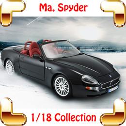 New Year Gift Maisto Spader 1 18 Model Car Metallic Model Scale Vehicle Luxury House Decoration Toy Car Pro Simulation Present