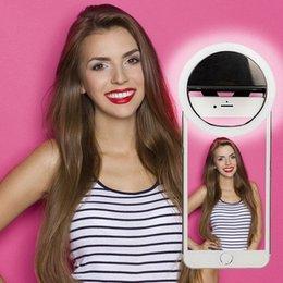 Anillo de luz led de la cámara en venta-LED Selfie Anillo Luz Flash Spotlight Círculo Ronda Llenar Luz Celular Foto Cámara Lámpara Speedlite para iphone 7 más Samsung Universal
