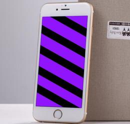 Écrans pourpres en Ligne-2.5D bord en verre trempé pour Apple iPhone 6 6s 7 Plus Carbon Fiber Screen Protector Violet Front Full Flexible couverture Film