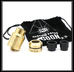 Wholesale GOON RDA MM LOGO ON Vaporizer Rebuildable Dripping Atomizers With Drip Tips And Metal CHUFF MADAO Best Quality Fit Box Mods