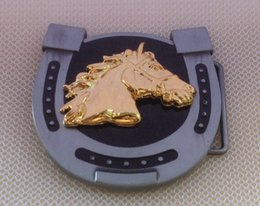Horse Head  Horse Shoe Western Belt Buckle SW-BY151 suitable for 4cm wideth belt