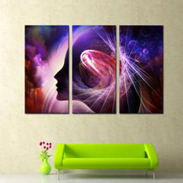 Wholesale 3 Pieces Canvas Print Wall Art Painting for the Brain Paintings The Picture For Living Room Decoration Prints On Canvas