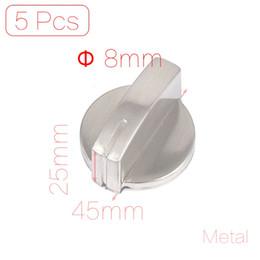 Wholesale mm Hole Inner Diameter Metal Gas Stove Oven Cooktop Range Burner Rotary Knob Handle Silver Tone