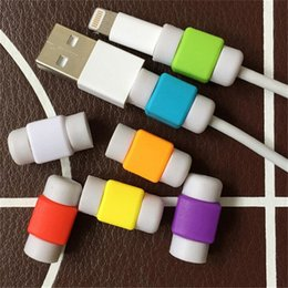Wholesale Universal silicone cable saver set iphone charging cable protectors data line apple USB cable protective savers cover case for iphone plus