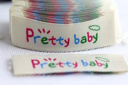 Wholesale Free design woven label for kids clothing in stock size cm