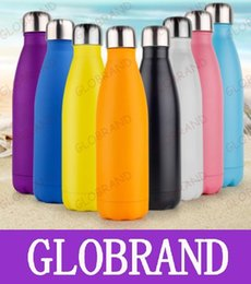 Wholesale GLXY22 Cola Shaped Insulated Double Wall Vacuum high luminance Water Bottle oz ml Creative Thermos bottle Vaccum Insulated