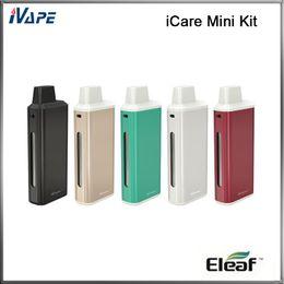 Wholesale 100 Origina Eleaf iCare Mini Kit ml Internal Tank Airflow Adjustable And mah iClear Mini Battery With Intuitive Three Color LEDs