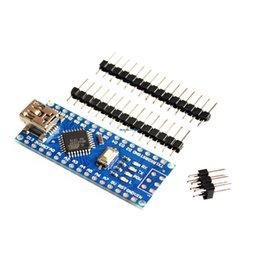 Wholesale Freeshipping Nano controller compatible with for arduino nano CH340 USB driver NO CABLE NANO V3