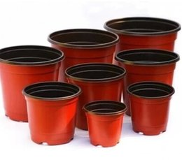 Wholesale 100pcs Double Color Nursery Pots Garden Supplies Planters Corrosion Resistance Postoral Plastic Seeding Bags Flower Tree Planting Pots