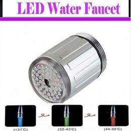 Hot Single Three Seven Colors LED Water Shower Head Lights Glow LED Faucet With Adapter For Faucet Kitchen Bathroom Tap Free Shipping By DHL