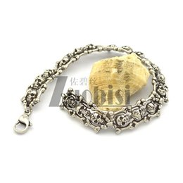 Punk Style And Unique Bracelets Cheap Stainless Steel Bracelets Hot SALE Skull Bracelets Wholesale Free Shipping