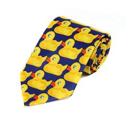 8cm Men and Women Fashion funny ties Wedding ties Barney's How I Met Your Mother Ducky Tie Yellow Rubber Duck Neck Ties