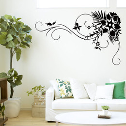 Wholesale DIY Flower Vine Background Living Room Bedroom PVC Wall Stickers Decorative Painting Waterproof Removable Wall Decal X28 quot
