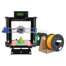 Promotion double filament Double Extrudeuse Double Têtes Reprap Prusa I3 Imprimante 3D Imprimante bicolore Haute Impression Impressora LCD 1KG Filament Gratuit