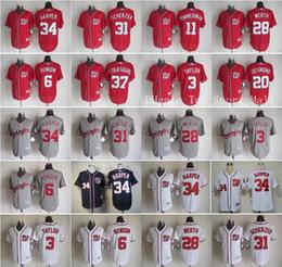 Washington Nationals Jerseys Baseball Game 34 Bryce Harper 31 Max Scherzer 11 Ryan Zimmerman 28 Jayson Werth 3 Michael Taylor 6 Rendon