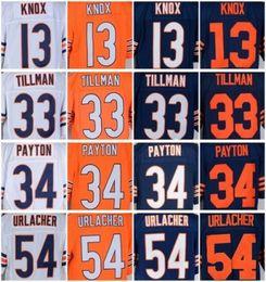 Wholesale 2016 Bears Men Elite Stitched Football Jerseys White Orange Deep Blue KNOX TILLMAN PAYTON URLACHER Stitched Wear