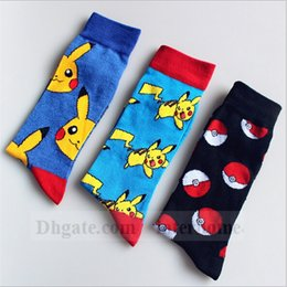 Wholesale Poke Ball Pikachu Socks Pocket Monster Stockings Squirtle Charmander Hosiery Poke Go Cotton Socks Unisex Poke Fashion Cartoon Socks B1072