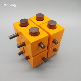 Eight Cubes Kong Ming Lock Brain Training Toy For Children Game