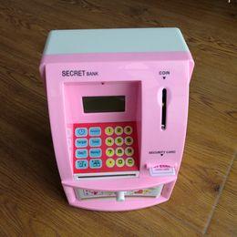 Wholesale creative children s cartoon plastic ATM with music piggy bank Birthday gift craft gift