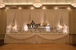 Hot Sale All White Color Wedding Backdrop Curtain \ Swag Drape For Wedding Decoration