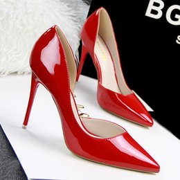 Women Pumps Fashion Sexy High Heels Shoes Women Pointed Toe Thin Heel Red Bottom Ladies Wedding Shoes