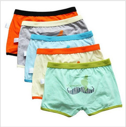 Brand top quality cotton boys boxer shorts panties kids underwear for 3-14 years old teenager 10 pcs lot Boys Underwears