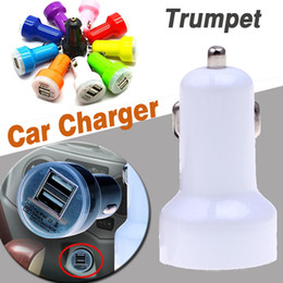 Dual USB Car Charger Universal Trumpet Buglet Mini Universal Power Adapter Passthrough For iPhone X 8 7 Plus Samsung Note 8 S8 iPad iPod