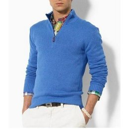 Wholesale 2016 Hot Popular Brand POLO men sweater US Embroidery Horse Cashmere Casual zipper men pullover Sweater Winter Male Jumpers