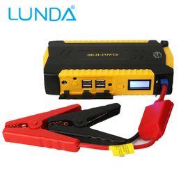 Wholesale LUNDA New Multi Function mAh V Car Jump Starter USB Power Bank Peak Current A Car portable starter battery