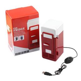 Wholesale New Mini USB Fridge Cooler Gadget Beverage Drink Cans Cooler Warmer Refrigerator Home Portable Mini Freezer