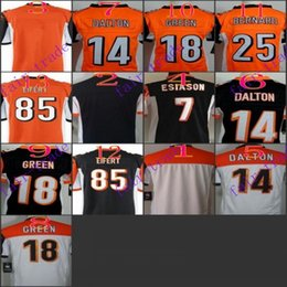 Wholesale Youth NIK Game Football Stitched Bengals Blank Esiason Dalton Green Bernard Eifert Black Orange White Jerseys Mix Order