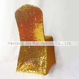 Gold & Silver 2 Color Sequins Back Lycra Banquet Chair Cover 20PCS Free Shipping For Wedding,Party,Hotel Use...