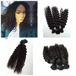 brazillian Human hair weaves wholesale Prices Deep Wave Style 3bundles Unprocessed Natural Color Brazilian Human Hair Weft G-EASY
