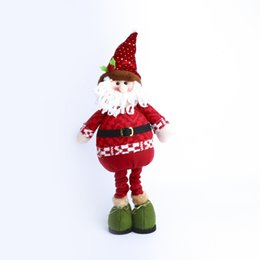 Wholesale 2016 Christmas Santa Snowman doll doll and cotton cm multi style lovely Christmas Muppet Christmas gift kids love