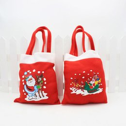 20cm Length Christams Decorations Gift Bags Cloth Santa Claus Festival Party Ornaments Christmas Tree Decoration Drop Shipping 200pcs lot