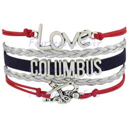 Custom-Infinity Love National Hockey League Columbus Blue Jackets Bracelet Ice Hockey Player Fans Adjustable Bracelet Bangles-Drop Shipping