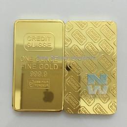 Wholesale 1509 CREDIT SUISSE oz ct Gold Plated Layered Bullion Bar Ingot Replica coin Switzerland Fake Gold Bar