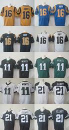 Wholesale 2016 Top Selling Men s Jared Goff Carson Wentz Elliott Football Jerseys Good Quality