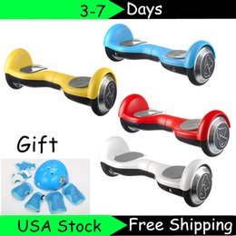 Wholesale USA Stock LG Self Balancing Inch Kids Scooter Two Wheel Electric Drifting Board Bicycle Smart Balance For Children of Protective Gears