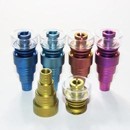 Highly quality Colorful Titanium Nail With Quartz bowl 10mm 14mm 19mm Female Male Joint Quartz Banger Nail