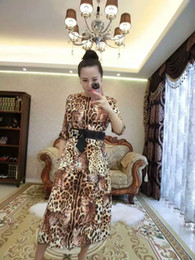 women latest world fashion grace noble dresses skirt leopard pattern short sleeve button diamond very good cloth