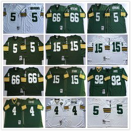Wholesale Throwback Brett Favre Paul Hornung Bart Starr Ray Nitschke Reggie White Green Stitched TB Jerseys